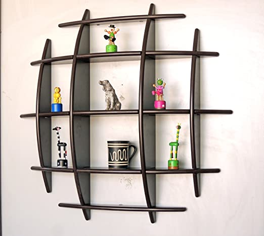 KABALI - decorative Floating Wall Shelf / Display Unit IN coffee ...
