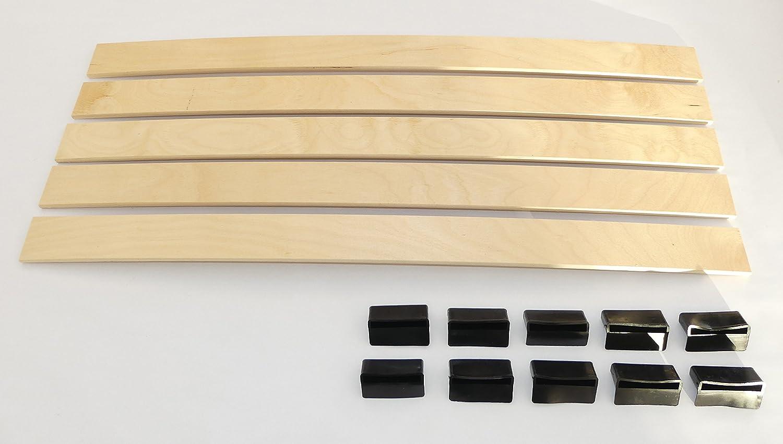SET: Federholzleisten (8x55mm) + Befestigungs Kappen zur ...