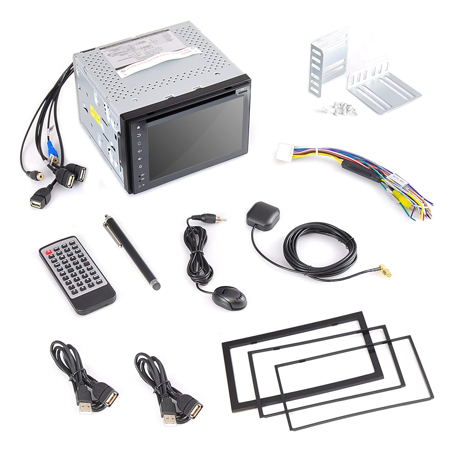 Pyle Pldnand621 Gps Android Car Stereo Wifi Double Din Dvd Head Unit Wire Harness Same As Computer Navigation Hands Free Bluetooth Electronics