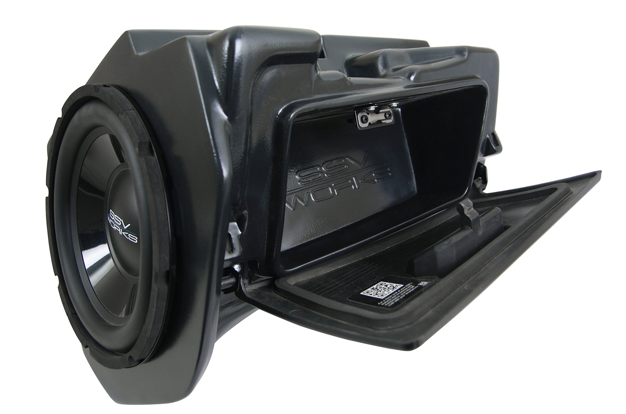 SSV Works Polaris RZR1K 2 and 4 seat and 2015 RZR900 2 and 4 seat Glove Box Replacement Subwoofer Enclosure INCLUDES 10'' Speaker
