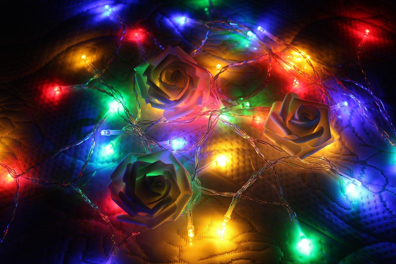 Timewanderer 4M 40 RGB Brillante LED Cuerda Luz luces de hadas del césped casa decoración de Navidad [Clase de eficiencia energética A++]