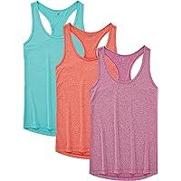 JINSHI Mujer Camisetas Deportivas de Tirantes 3 Pack