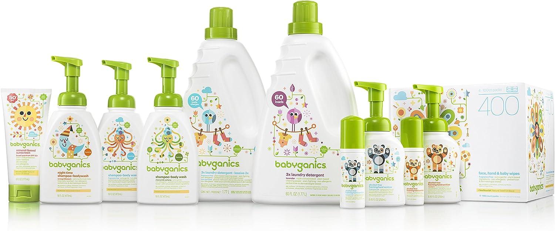 Babyganics Baby Shampoo + Body Wash Pump Bottle, Chamomile Verbena, 16oz, 3 Pack, Packaging May Vary
