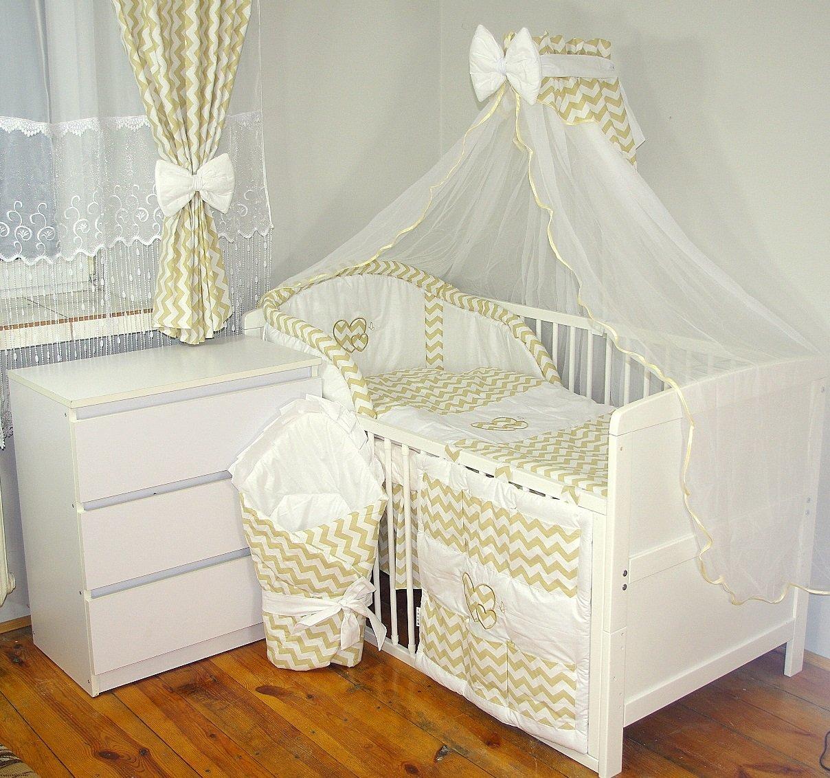 Baby's Comfort 24tlg BABY BETTWÄ SCHE BETTSET MIT STICKEREI (12 FARBEN) ( fü rs BABYBETT 120/60 cm, 1) Baby' s Comfort