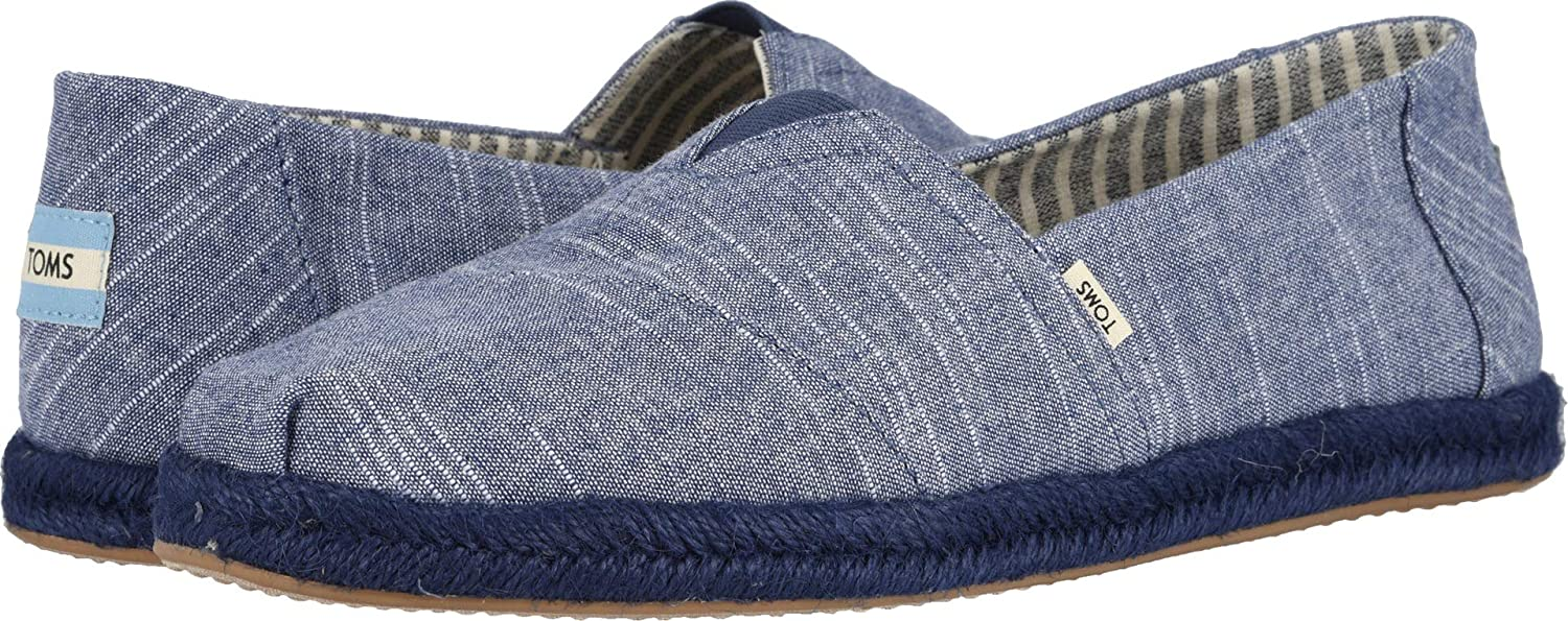 Amazon.com   TOMS Mens Alpargata Navy Rugged Chambray On Mono Rope 11 D US   Loafers & Slip-Ons