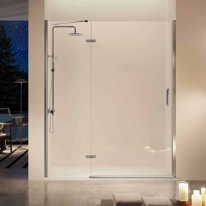 Frente de ducha NARDI, fijo + puerta abatible + perfil 135-140cm: Amazon.es: Bricolaje y herramientas