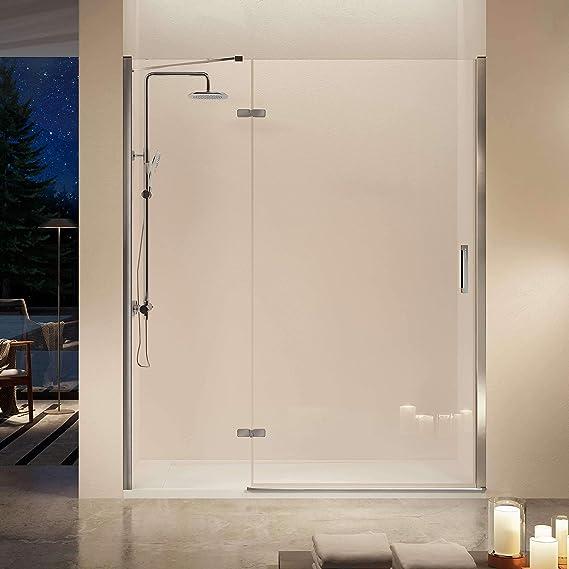 Frente de ducha NARDI, fijo + puerta abatible + perfil 135-140cm ...