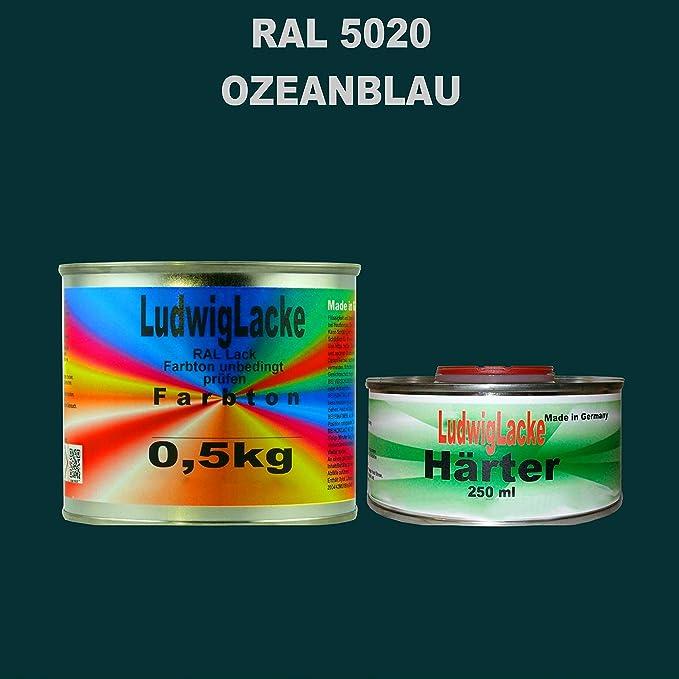 Ral 5020 Ozeanblau Acryllack 0 75 Kg Matt Mit Härter Auto