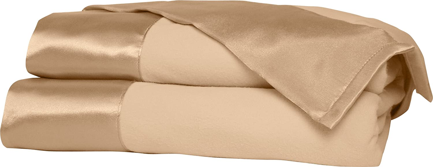 Shavel All Seasons Year Round Sheet Blanket with Satin Hem, King, Chino