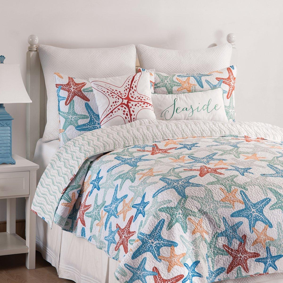 C&F Home Kalani Quilt Set, Full/Queen, Blue