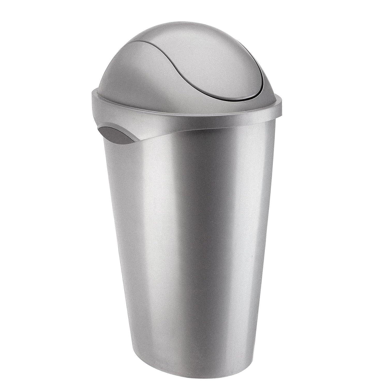 umbra スイングフタ付ゴミ箱 SWINGER CAN(スウィンガーカン) 45L ニッケル 2086300410 B005M7S0MG