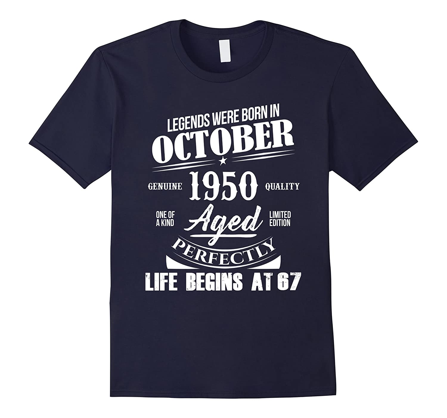 October 1950 67th Birthday Gifts 67 years old Bday Tee-TJ