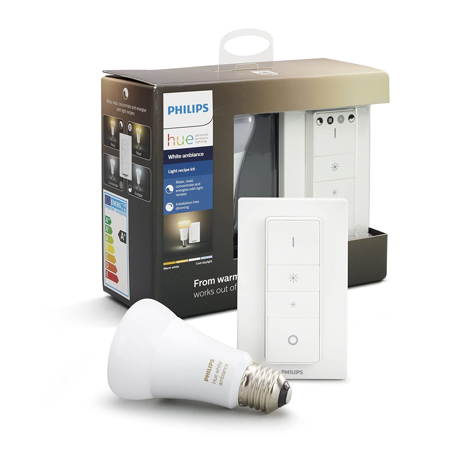 Philips Hue Smart Dimmable LED Smart Light Recipe Kit (Compatible with  Alexa, Apple HomeKit and Google Assistant) 929001200141