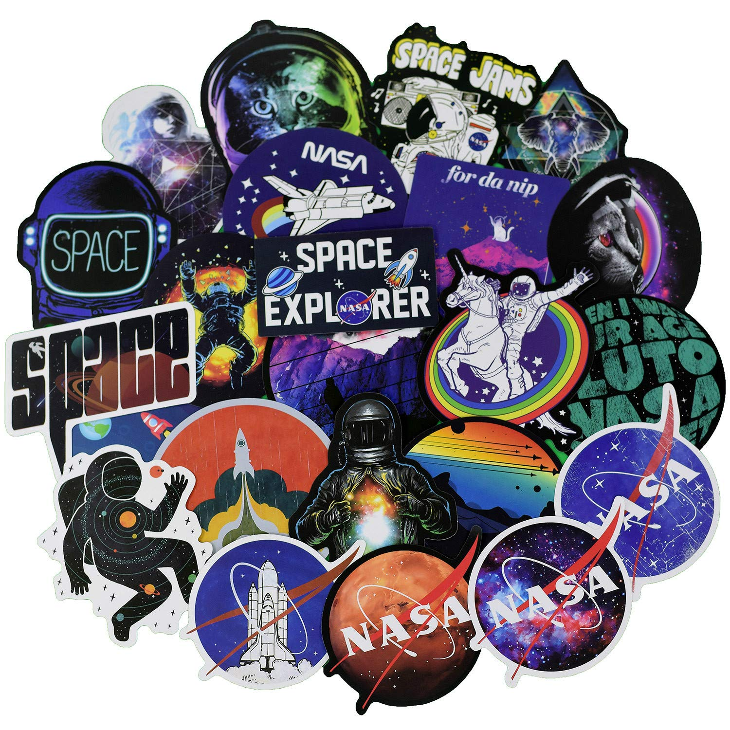 Stickers Calcos 100 Un. Nasa Origen U.s.a. (7n3zhsbl)