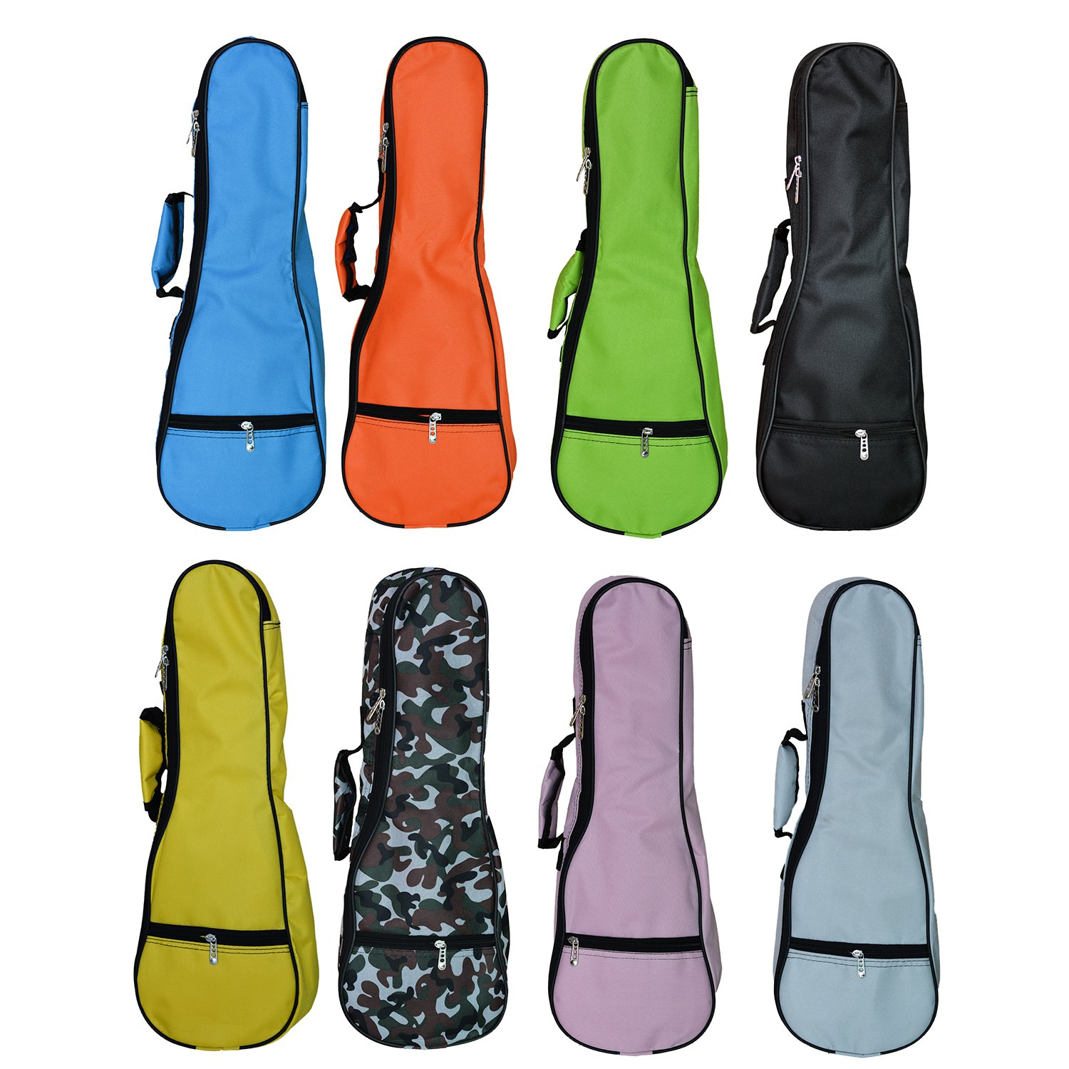 ZEALUX Colourful Adjustable Shoulder Strap 5MM Sponge Fill Ukulele Case Bag & Uke Case