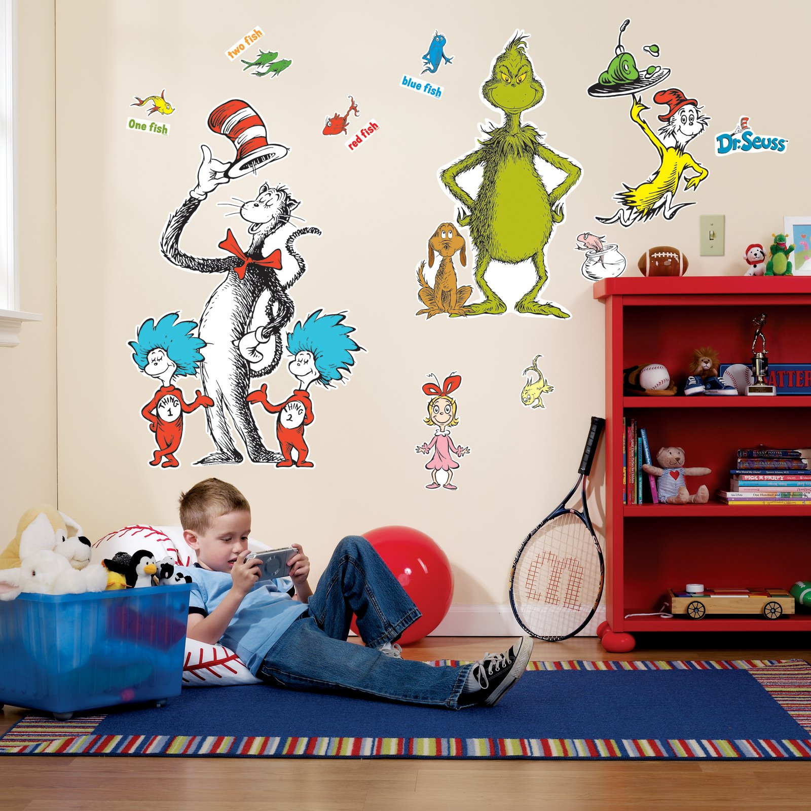 BirthdayExpress Dr Seuss Room Decor - Giant Wall Decals by BirthdayExpress (Image #1)