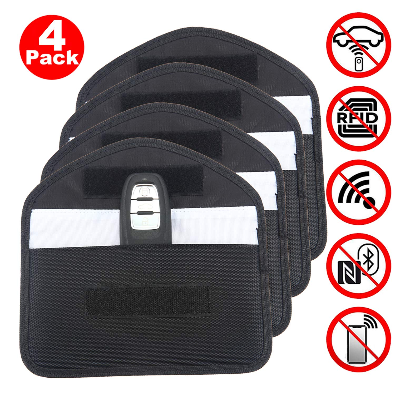 Keyless Car Key Signal Blocking Pouch 3 Pack Oxford Faraday Bag for Car Keys ACENTIX Car Key Signal Blocker with Keyring RFID Entry Protector Fob Guard-Faraday Bag Blocks RFID//NFC//WIFI//GSM//LTE