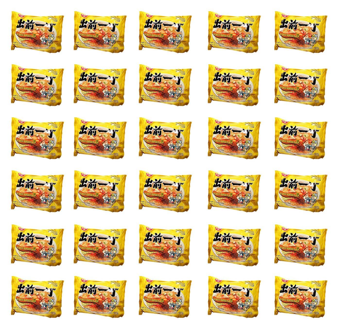 Nissin Demae Ramen Instant Noodle 3.5oz (XO Sauce Seafood, 30 Packs)