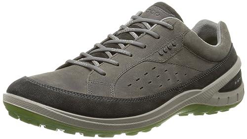 Ecco Biom Grip II - Zapatillas de Deporte para Exterior de Piel, Hombre, Color Marrón, Talla 42