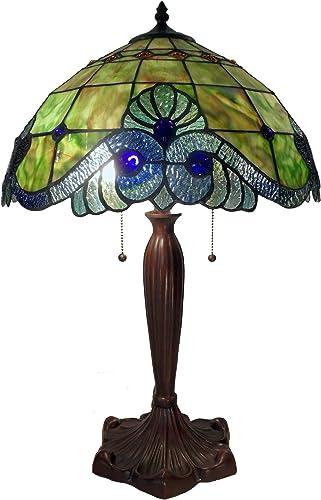 Tiffany NG161229A-A877 Style Geometric Table Lamp