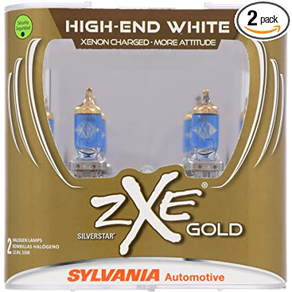 SYLVANIA - 9006 (HB4) SilverStar zXe GOLD High Performance Halogen Headlight Bulb - Headlight
