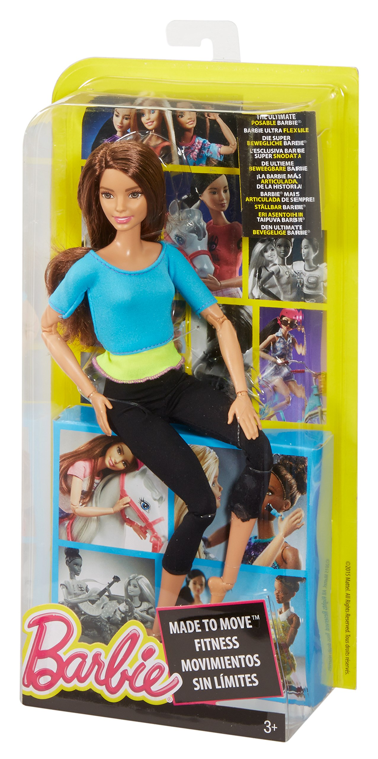 Barbie Made to Move Doll, Blue Top by Barbie (Image #7)