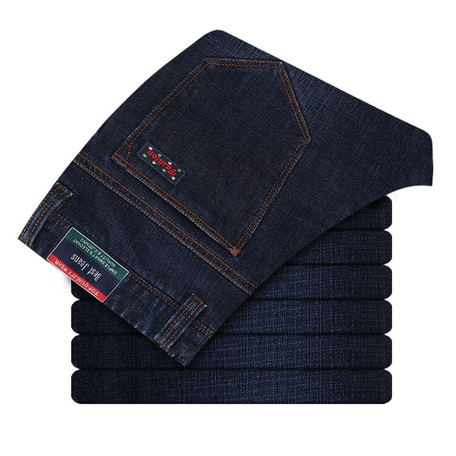 Thadensama New Mens Plus Size Jeans Big Size Jeans Casual Pants Denim Slim Fit Trousers For Man Size 28-44