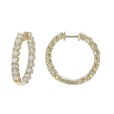 2696b5dd7d661 Amazon.com: 4 cttw SI1-SI2 Certified 14K Yellow Gold Diamond Inside ...