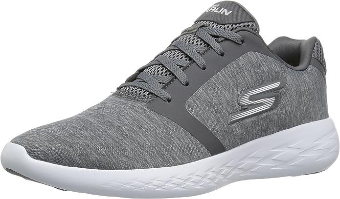 Skechers Sneakers ginniche Modello Go Run 600 DIVERT, da Uomo, Grigio Chiaro, in Tessuto Neoprene ammortizzamento in Memory Foam.