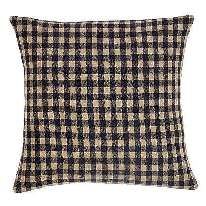 Amazon Country Primitive Black Check Toss Pillow Cover 40 Unique Primitive Pillow Covers