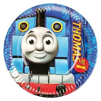 Set de fiesta de 37 piezas * Thomas, la pequeña locomotora * con platos + vasos + servilletas + Set de decoración para fiestas de cumpleaños ...