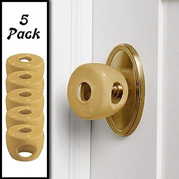 Grip Door Knob Locks Cover For Children Kids Proof Doors Baby Safety Care 2019