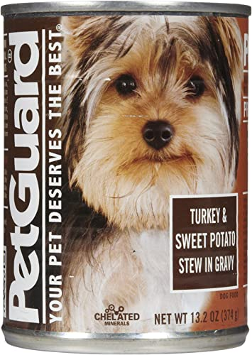 PetGuard Turkey and Sweet Potato with Gravy Dog Food, 14-Ounce Pack of 12
