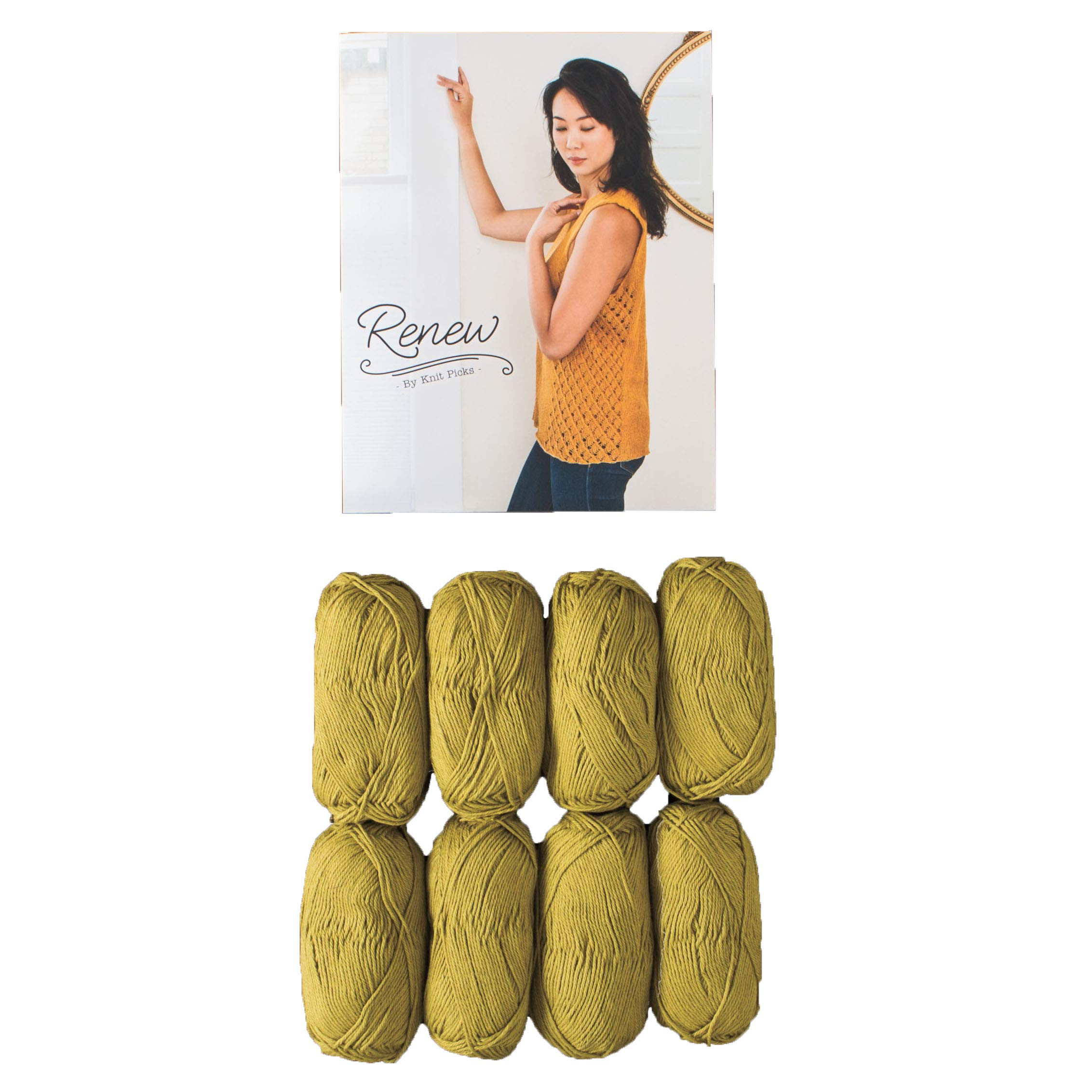 Knit Picks Cotton Garment Knitting Pattern Kit (Cloverleaf Top)