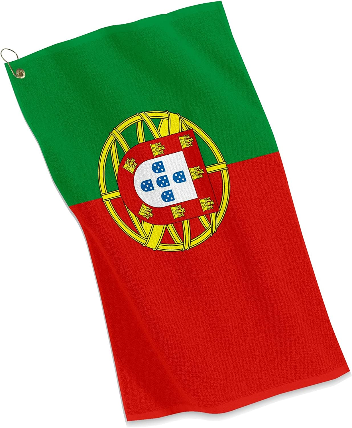 Amazon.com : ExpressItBest Golf/Sports Towel - Flag of Portugal - Portuguese  : Sports & Outdoors