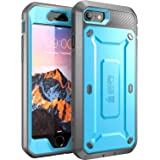 iPhone 7 Case, SUPCASE Full-body Rugged Holster Case with Built-in Screen Protector for Apple iPhone 7 (2016 Release), Unicorn Beetle PRO Series - Retail Package (Blue/Black)