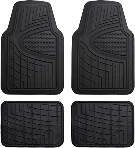 FH Group Premium Tall Channel Trimmable Rubber Floor Mats
