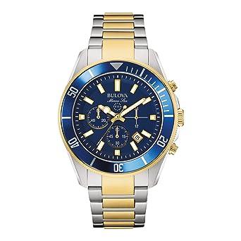 69cce2fbf Amazon.com: Bulova Men's 98B230 Marine Star Chronograph Japanese Quartz Two  Tone Watch: Bulova: Watches