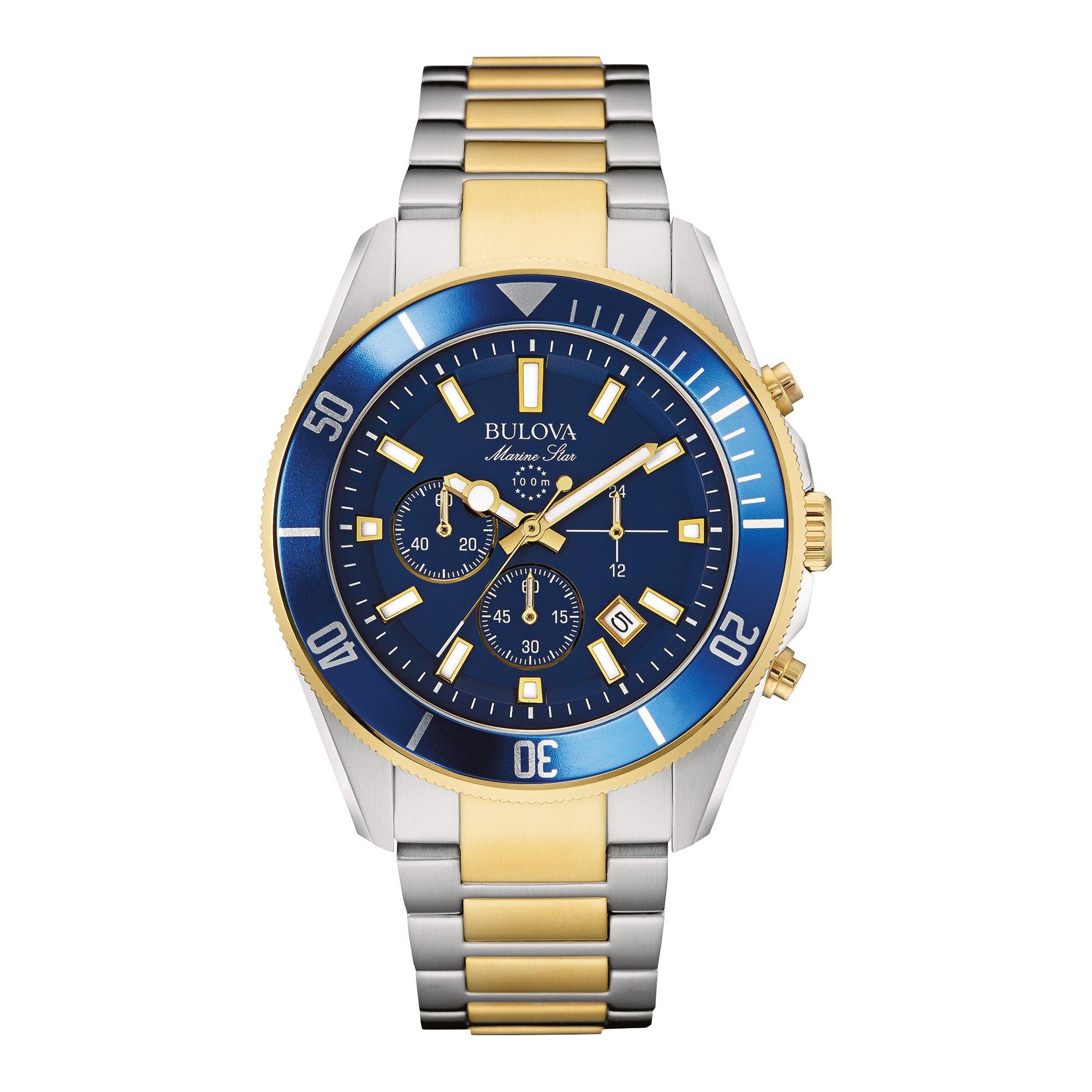 Bulova Men's 98B230 Marine Star Chronograph Japanese Quartz Two Tone Watch