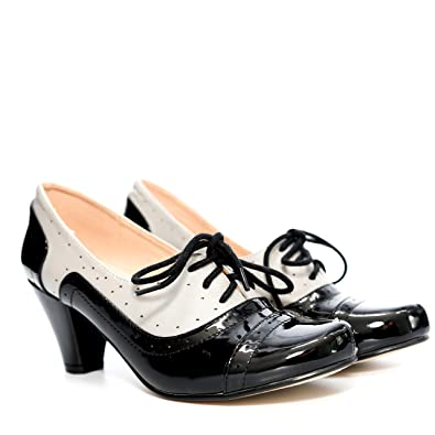 f25c2a6d932 Dolce Nome Abbi Heeled Oxfords Women s Designer Shoes Italian Style Well  Constructed Ladies Fancy Shoes (