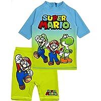 Super Mario Swimsuit Boys UV50 Sun Safe Two Piece Top & Shorts Costume