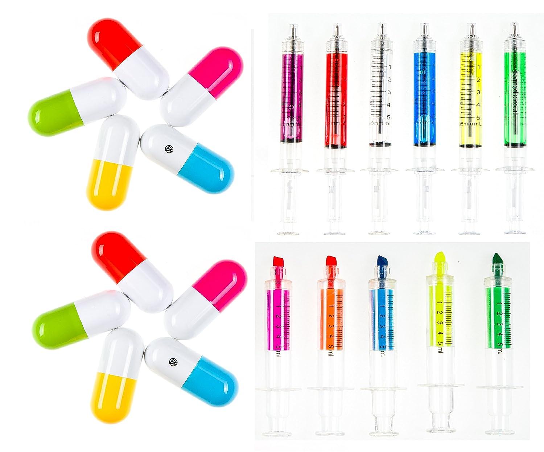 Medical Stationäre Spritze und Medikamente Kapsel Stifte Kugelschreiber zur Krankenschwester oder Arzt Novelty Shopper