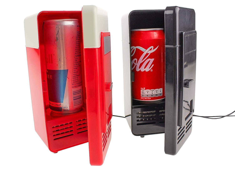 Mini Kühlschrank Für Schreibtisch : United entertainment usb schreibtisch kühlschrank mit led licht