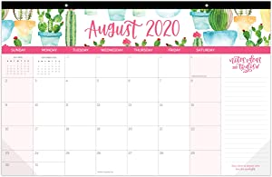 "bloom daily planners 2020-2021 Academic Year Hanging Wall/Desk Monthly Calendar Pad (August 2020 - July 2021) - 11"" x 17"" - Seasonal Designs"