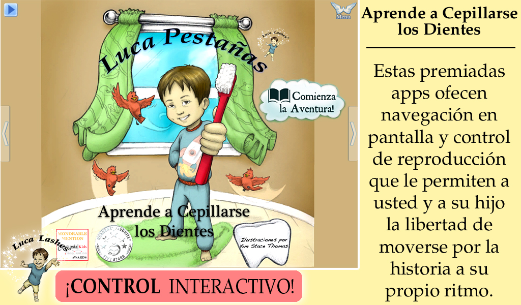 Amazon.com: Luca Lashes Learns to Brush His Teeth in Spanish: Appstore for Android