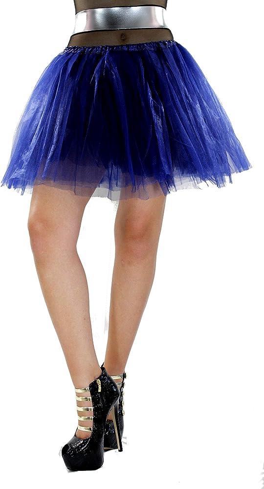 HADABELLA Minifalda Azul Oscuro DE Tul con Falda Interior del ...