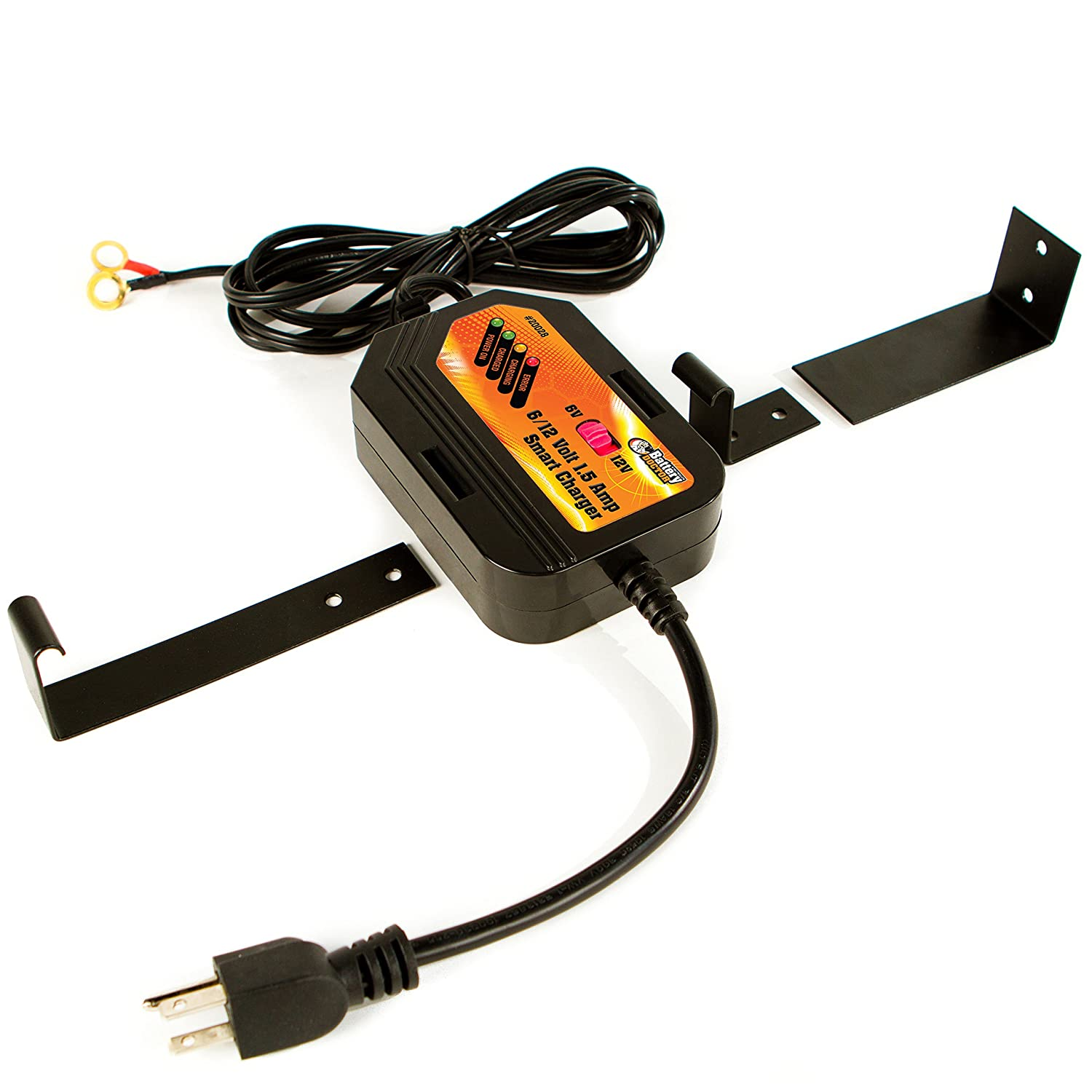 Wirthco 20028 Battery Doctor Black Cec Certified 6 12v Wiring Onboard Charger 15 Amp On Board Smart Automotive