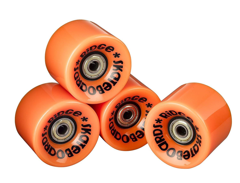 Ridge Skateboard Ruedas - 70mm 78A PU Skateboard Ruedas - Incluye rodamientos ABEC - Juego Completo de 4: Amazon.es: Deportes y aire libre