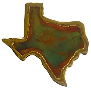 Handmade TEXAS Gift Copper refrigerator magnet for Texas Souvenirs | Made in USA. Texas Magnet
