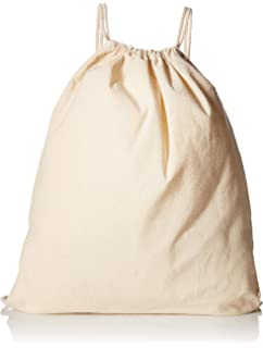 (12 Pack) 1 Dozen - Durable Cotton Drawstring Tote Bags (Natural) 4af0420bdd